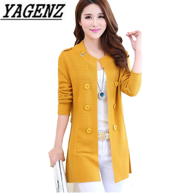 2019 Autumn Winter Plus Size Women Long Sleeve Loose Knitting Cardigan Sweater Coat Solid Knitted Female Cardigan Outerwear 3XL