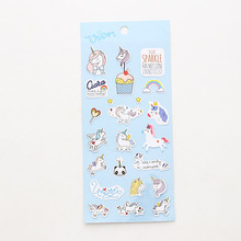 Transparent Mini Unicorn Stickers Set