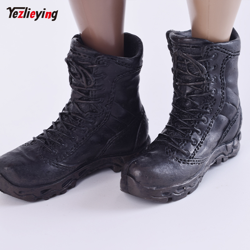 "MagiDeal 1//6 Scale Male Boots Shoes Toy for 12/"" Phicen Action Figure Black"