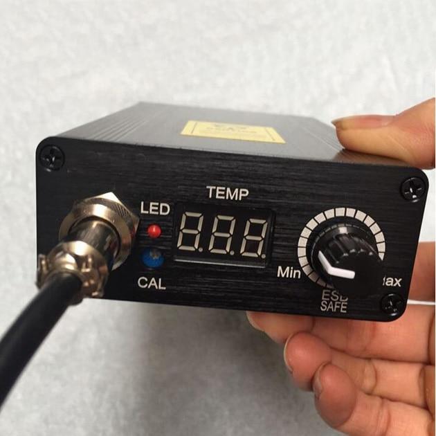 Best Price Digital Soldering Iron Station Temperature Controller +EU Plug Temperature 180 - 435 Degrees+T12 Handle 138x88x38mm  soldering iron station temperature controller handle stand for hakko t12
