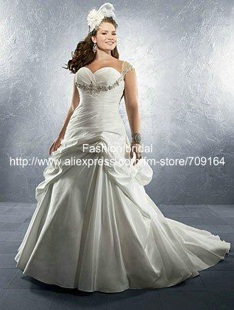 Plus Size Cap Sleeve Wedding Dresses