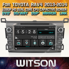WITSON CAR DVD GPS for TOYOTA RAV4 2013-2014 New Technology+Capctive Screen+1080P+DSP+WiFi+3G+DVR+Good Price+Free shipping