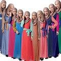 2016 moda abaya muçulmano longo menina vestido roupas mulheres turcas djellaba burqa plus size dubai árabe vestido chifon