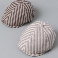 2019 designer brand spring summer hats beret cotton linen British Style flat Caps plaid Visor hats for Men Boina Casquette Homme