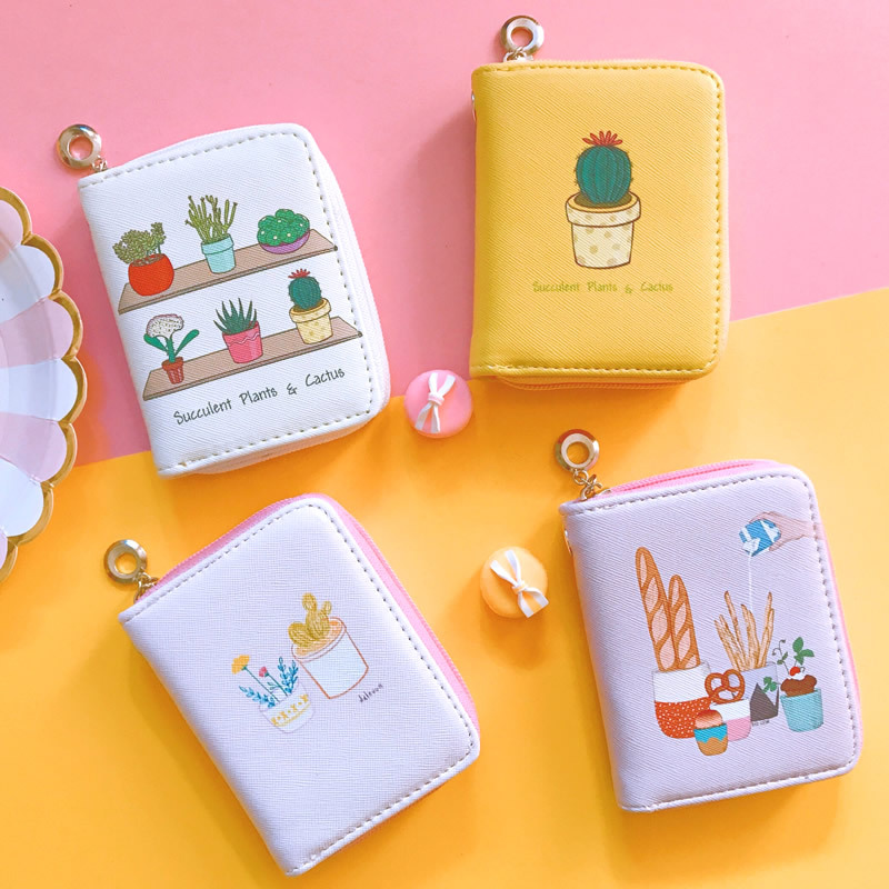 все цены на Fashion Cactus Wallet Purse for Women Female Clutch Purse Card Holder Coin Purse Wallet for Ladies онлайн