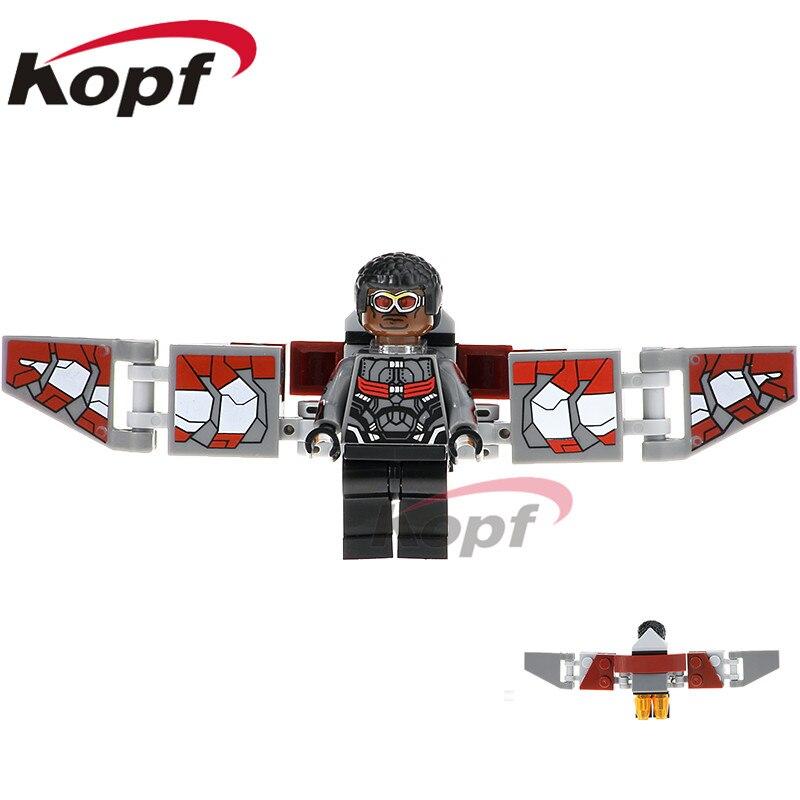 Single Sale Super Heroes Infinity War Figure Falcon Vision Doctor Stranger Thanos Building Blocks Best Children Gift Toys XH 829