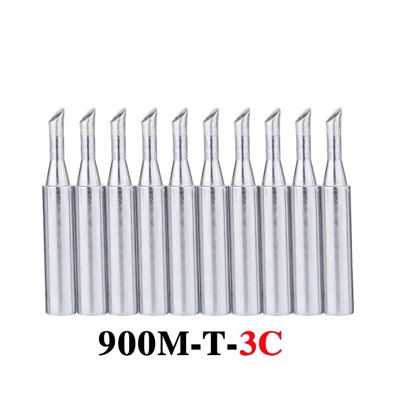 10Pcs/lot 900M-T-3C Soldering Tip Lead-free Welding Sting Soldering Iron Tip For 936 BGA Soldering Station Tools