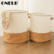 ONEUP Folding Laundry Basket Cartoon Storage Barrel Toy Storage Box Basket Handbag Burlywood Dirty Clothes Organizer Household