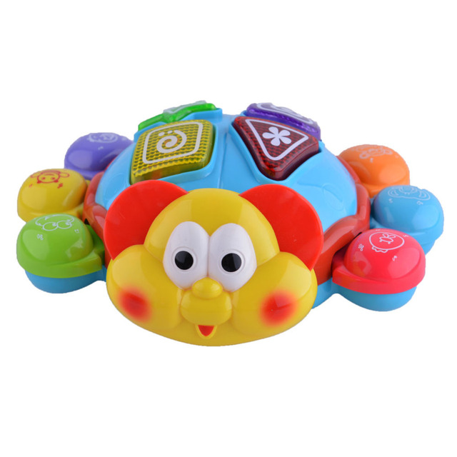 New Crawl Along Beetle Kids Toys Early Development With Music Sound Or Drum Light Music Educational Toys For Children