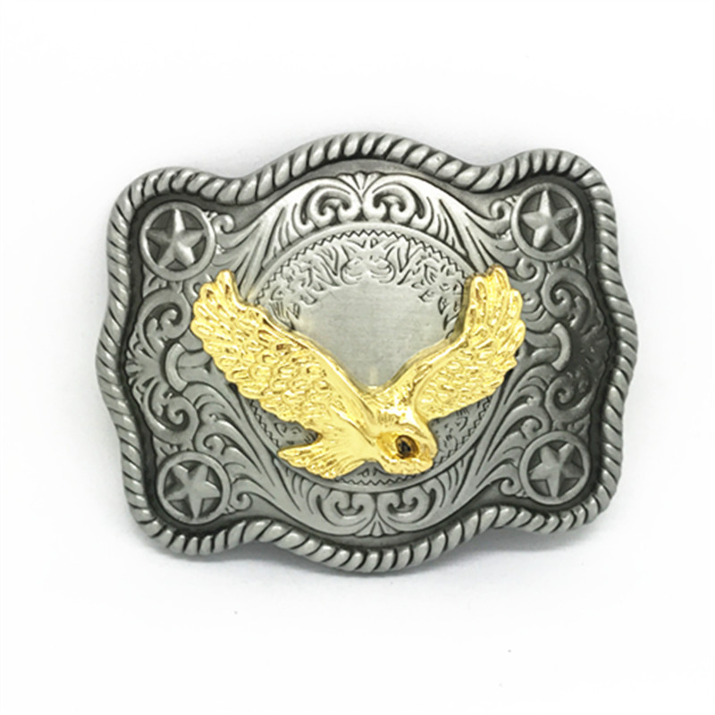 Western Cowboy Belt Buckle Vintage Eagle Belt Buckle For A 4.0 Belt