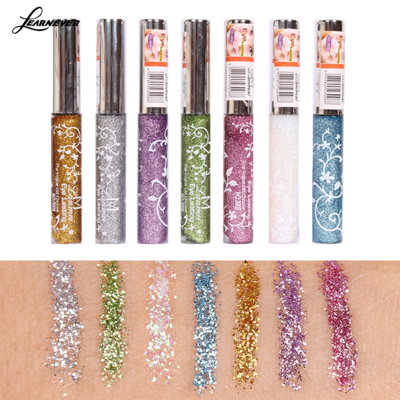 Waterproof Eyeliner Pencil Pen Shining Liquid Eyeliner Glitter Eye Pencil Make Up Cosmetics Eye Liner Beauty M03051