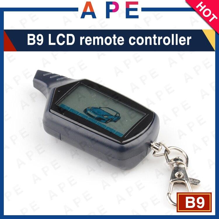 imágenes para 2017 Nueva Llegada Del Envío Libre B9 LCD de $ number vías de control remoto/transmisor FM para Starline B9 dos vías coche Llavero B9