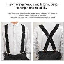 78502e36e5d 130mm Y-Shape Adjustable Durable Braces Mens Clip-on Suspenders Solid Elastic  Belts Straps