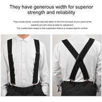 130mm Y-Shape Adjustable Durable Braces Mens Clip-on Suspenders Solid Elastic Belts Straps Braces 2018 Fashion