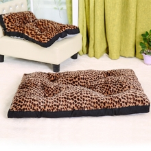 Domestic Shipping Dog Cat Cushion Large Size For Big Dog  Leopard Pattern Luxury Style Soft Cozy High Quality Pet Supplier