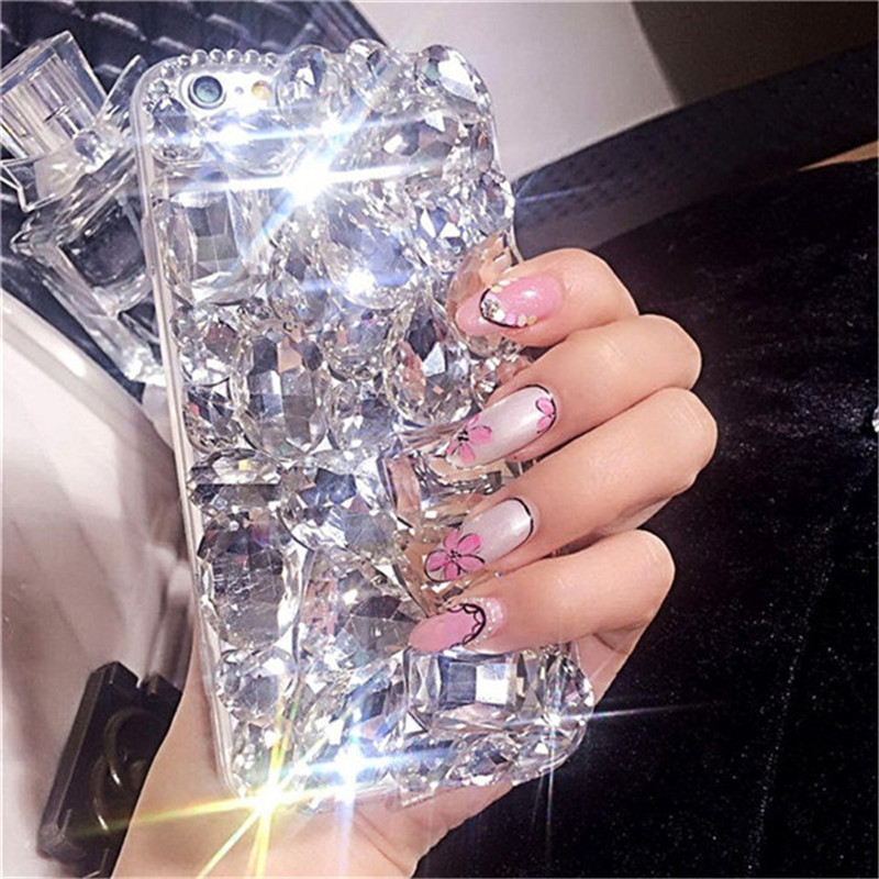 1Pcs Glitter Case For LG Stylo 5 Luxury Crystal Rhinestone Diamond Bling Clear Phone Case Cover For LG Stylo 5 2019 Coque Funda