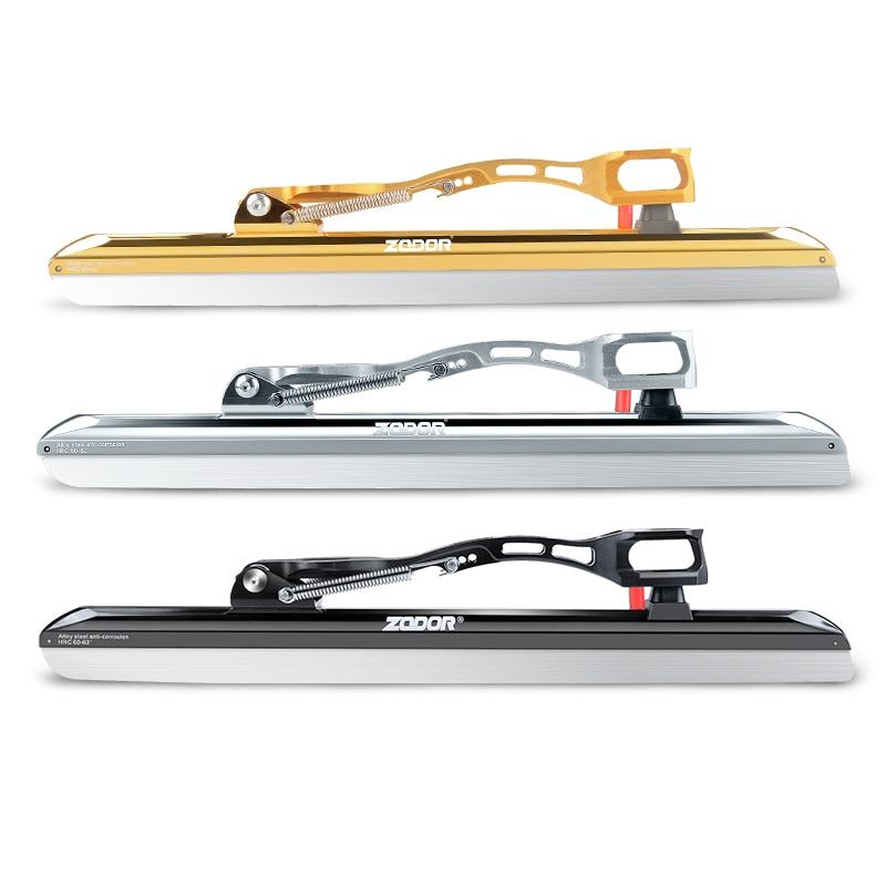 ZODOR professionnel Dislocation glace lame patins couteau patinage de vitesse Support 380MM 410MM 430MM 62-64 lame 7000 alliage CNC lumière