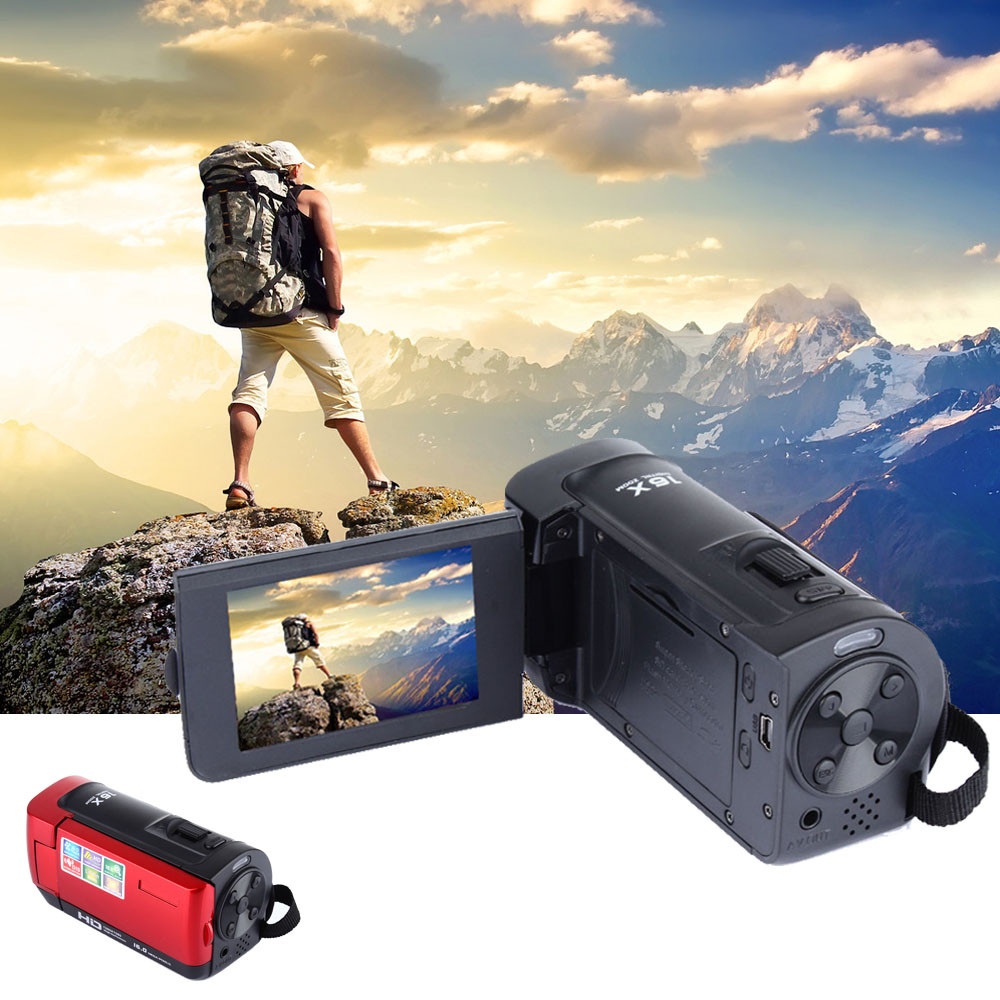 Sport Caméra Full HD 1080 P 16MP Caméscope Numérique Caméra DV HDMI 2.7 ''TFT LCD 16X ZOOM camara deportiva aksiyon kamera