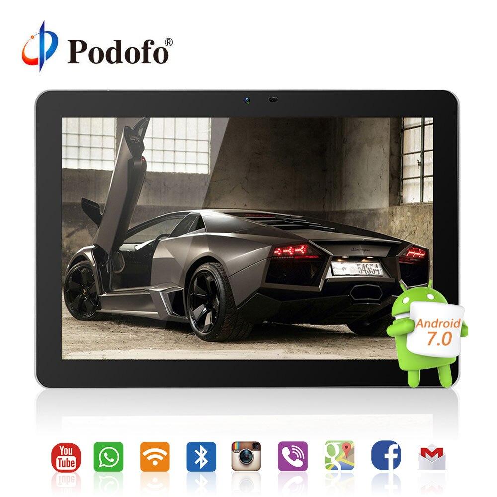 Podofo 10.1 pollice Android 7.0 Poggiatesta Auto monitor IPS Dello Schermo di Tocco 4g WIFI USB/SD/HDMI/ IR/FM Anteriore Posteriore Della Macchina Fotografica Giochi APP Monitor