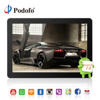 Podofo 10.1 inch Android 7.0 Car Headrest monitor IPS Touch Screen 4G WIFI USB/SD/HDMI/IR/FM Front Rear Camera Games APP Monitor