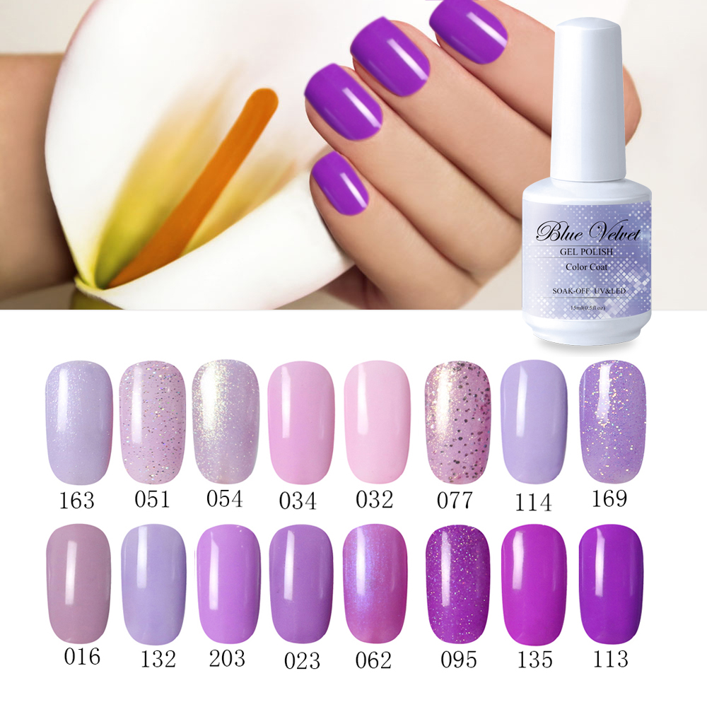 Blue Velvet 15ml Fantacy Purple Series Soak Off Glue Nail
