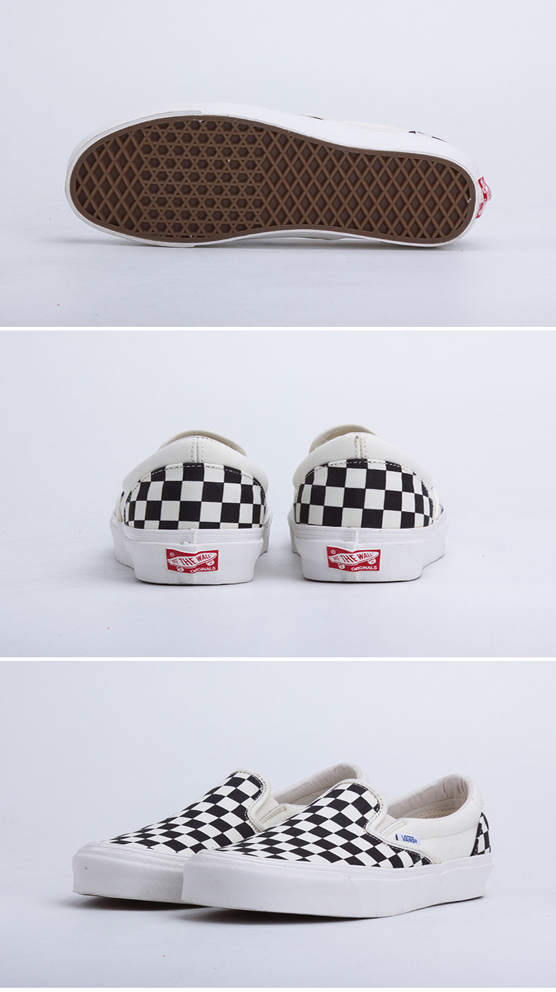 Intersport Original Vans OG Classic slip-on Unisex Skateboarding Shoes Sports Shoes Canvas Shoes Sneakers free shipping