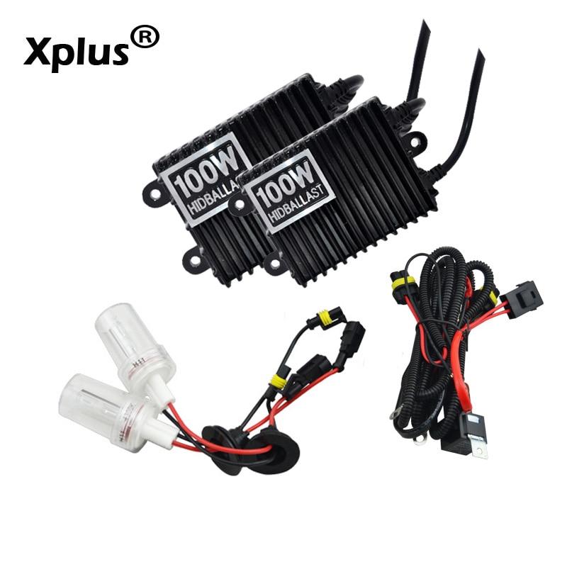 Xplus 100 W CACHÉ kit Xénon H1 H3 H7 H8 H11 9005 9006 HB3 HB4 4300 k 6000 k 8000 k pour Phare De Voiture 2 pièces AC ballast