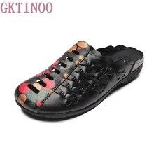 GKTINOO 2019 ฤดูร้อนรองเท้าแฟชั่นผู้หญิงรองเท้าแตะหญิง Hollow Out รองเท้าผู้หญิงรองเท้าแตะรองเท้าแบน zapatos mujer