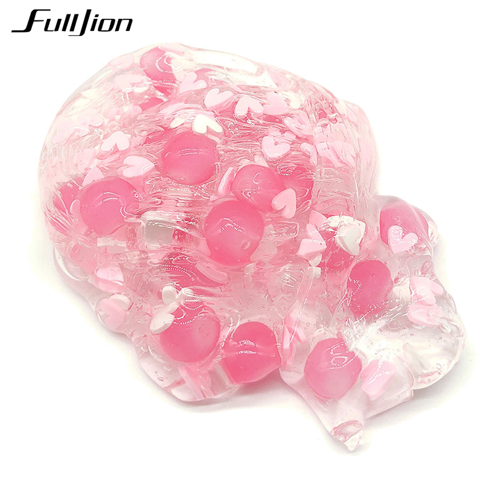 Fulljion-Slime-Pearl-Clear-Clay-Toys-Bubble-Crystal-Slime-Modeling-Clay-Fluffy-Putty-Box-Lizun-Plasticine