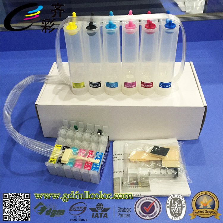 T0821N Continous Ink Supply System for Epson T50 CISS with Reset Chip + 500ML Eco Solvent ink / ColorT0821N Continous Ink Supply System for Epson T50 CISS with Reset Chip + 500ML Eco Solvent ink / Color