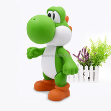 22cm Green Yoshi Mario Luigi Action Figures Doll 23cm Big Size Cartoon Anime PVC Collection Model Toys Free Shipping free shipping sexy 9 one piece anime p o p cp9 kalifa boxed 22cm pvc action figure collection model doll toys gift