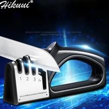 Новая точилка для ножей, 4 этапа, кухонные ножи, шлифовальная машина, Алмазный керамический камень, вольфрамовая точилка, ножницы, инструменты для ножей
