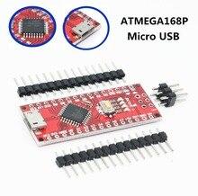 100 pièces Micro USB Nano avec le chargeur de démarrage ATMEGA168P Nano 3.0 contrôleur compatible Nano v3.0 CH340 USB pilote 16Mhz pour arduino