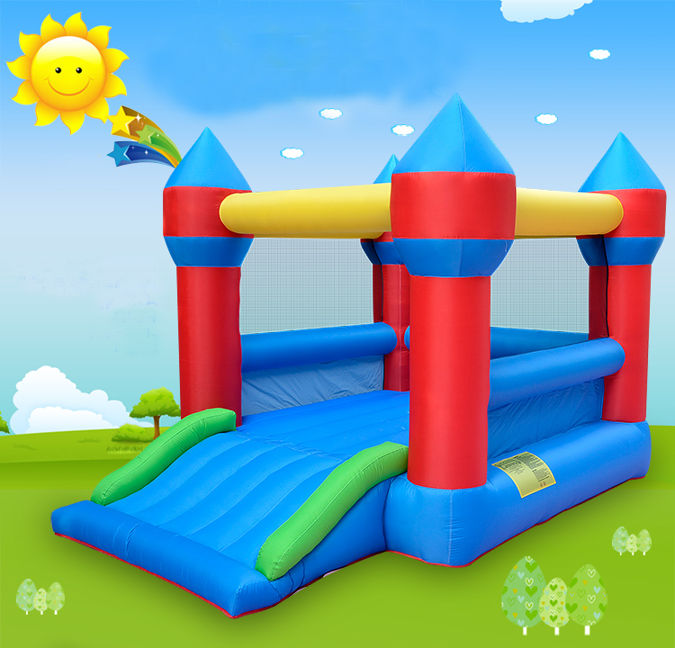 Inflatable Bounce House With Slide Kids Jump Playhouse