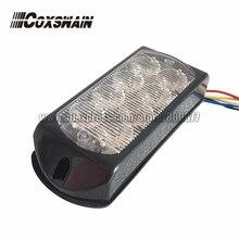 Светодиодный поверхностный монтажный светильник для автомобиля, светодиодный предупреждающий светильник, 8*3 Вт светодиодный, 26 вспышек, DC12/24 В, Функция синхронизации, светодиодный светильник-гриль