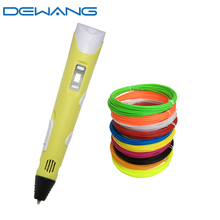 DEWANG 3d Pen Creativity Printing for Christmas Birthday Gifts Children 3 d Drawing with Rods Filaments Pluma stylo