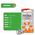60 pcs free grátis zinc air hearing aid battery13/p13/pr48. Baterias do Aparelho Auditivo Rayovac Desempenho Extra 13A