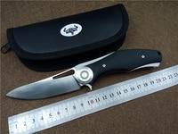 KESIWO Dark Folding Knife Titanium Alloy G10 Handle D2 Blade Ceramic Ball Bearing Flipper Survival Outdoor