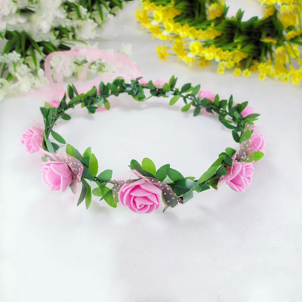 Aliexpress Buy Bridesmaid Flower Crown Artificial Flower Head