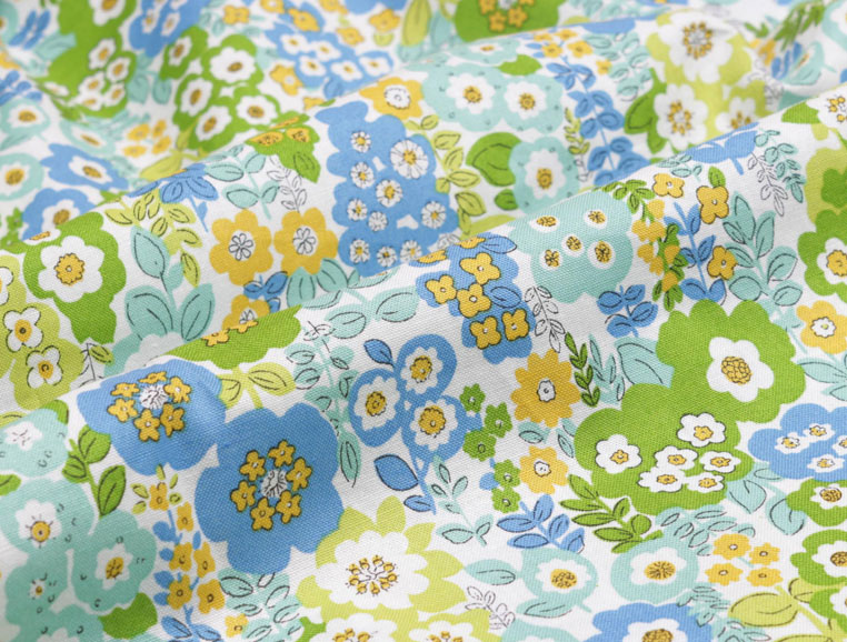 organic cotton fabric blooming flower printed fabric 100cm*150cm 100% cotton textile Handmade materials clothing fabric