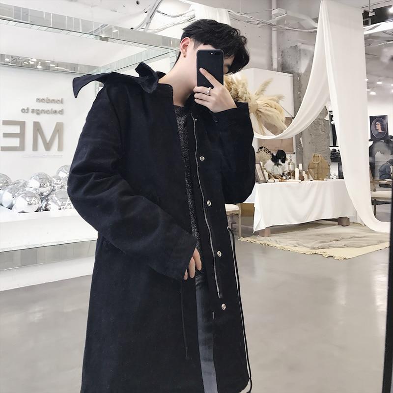Nueva chaqueta con capucha de invierno de gran tamaño azul negro blanco abrigo de plumón para mujer - 4