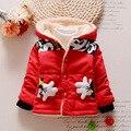 Nueva Mickey Bebé Niños prendas de Abrigo Niños Chaquetas para Niño Niñas Chaqueta de Invierno Cálido Con Capucha ropa de Niños Ropa Niños
