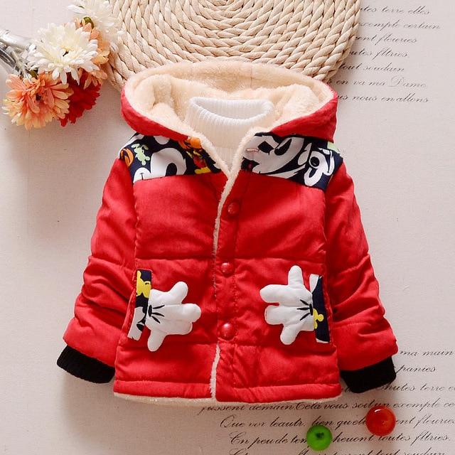 89dd46eb0 Nueva Mickey Bebé Niños prendas de Abrigo Niños Chaquetas para Niño Niñas  Chaqueta de Invierno Cálido