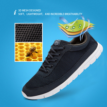 Brand Men Casual Shoes Breathable Lace-Up Walking Shoes Spring Lightweight Comfortable Walking Men Shoes Black Plus Size 48