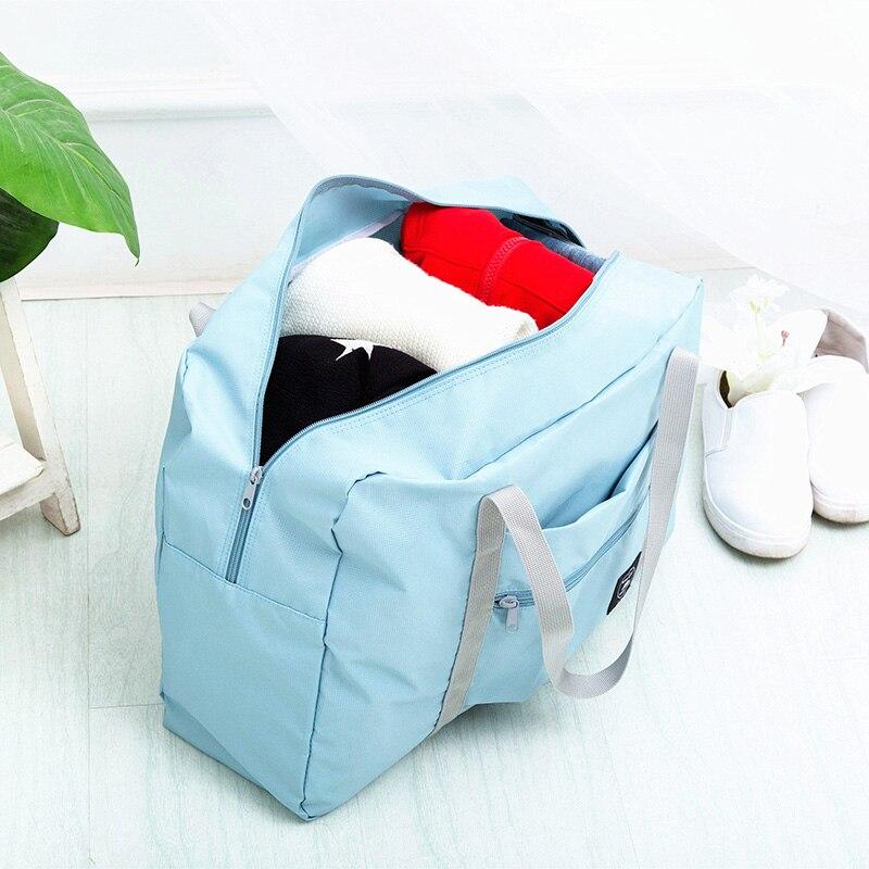 d73349ce4e9e Waterproof Nylon Travel Bags Women Men Large Capacity Folding Duffle Bag  Organizer Packing Cubes Luggage Girl Weekend Bag