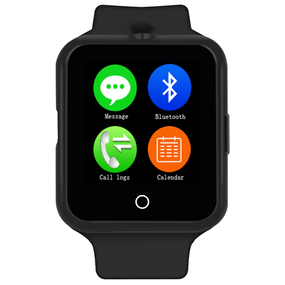 Fashion Bluetooth Smart Watch Support SIM TF-card Phone Call Camera Heart Rate Monitor Smartwatch for Samsung LG Android Phone