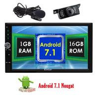 Android 7.1 Nougat 2 Din 6.2'' Car Radio Stereo in Dash Autoradio Bluetooth 1080P Video Wifi/3G/4G Free External Mic+Rear Camera