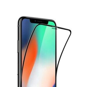 Image 2 - Xiaomi Protector de pantalla de cobertura completa 3D película protectora de pantalla de vidrio templado a prueba de arañazos para iPhone XS MAX/XS/X/XR/8P/8/7P/7