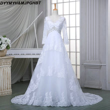 DYYMYH&MJPGHBT Wedding Dresses Long Sleeve Gown
