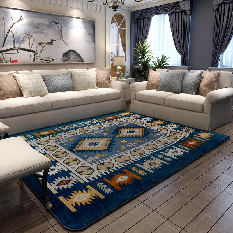 Buy 200x240cm Mediterranean Style Carpets For Living Room Home Bedroom Rugs And